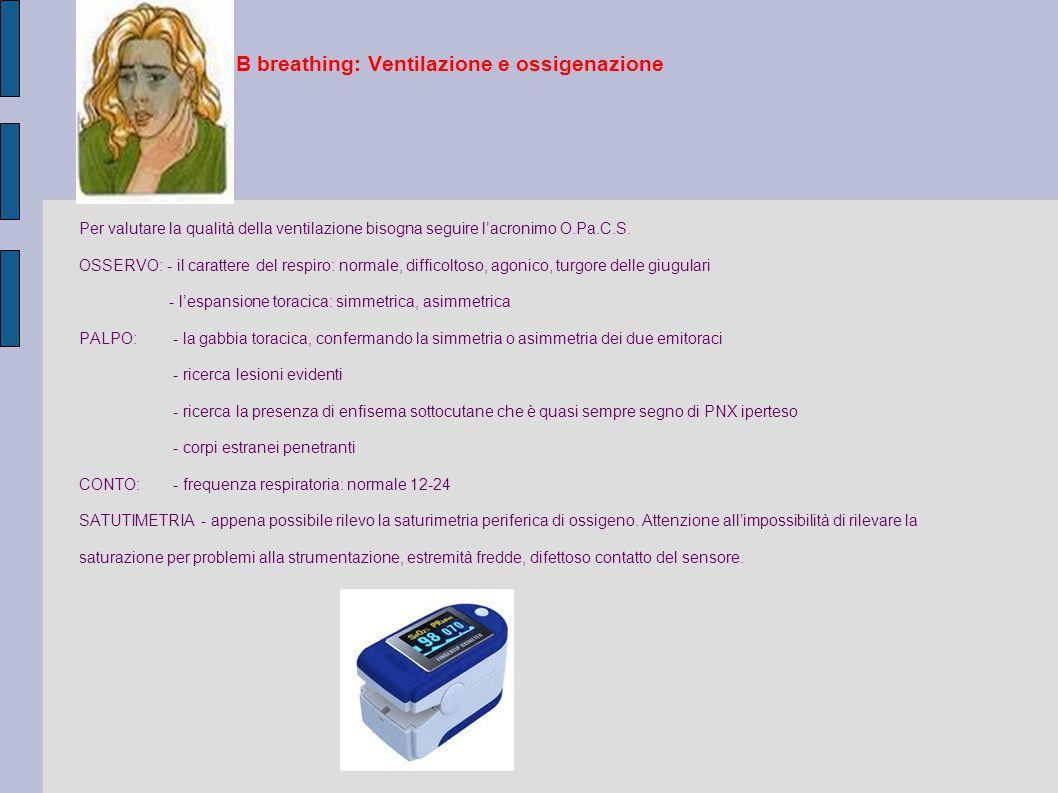 B breathing: Ventilazione e ossigenazione