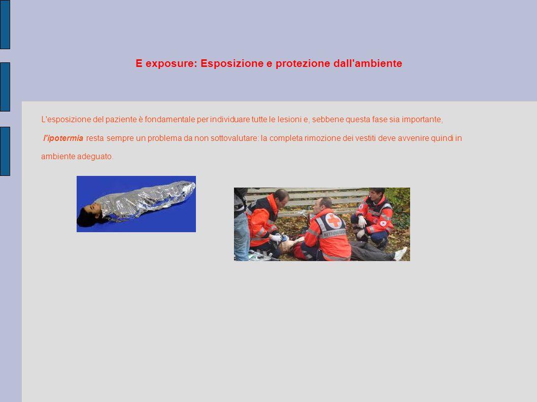 E exposure: Esposizione e protezione dall ambiente