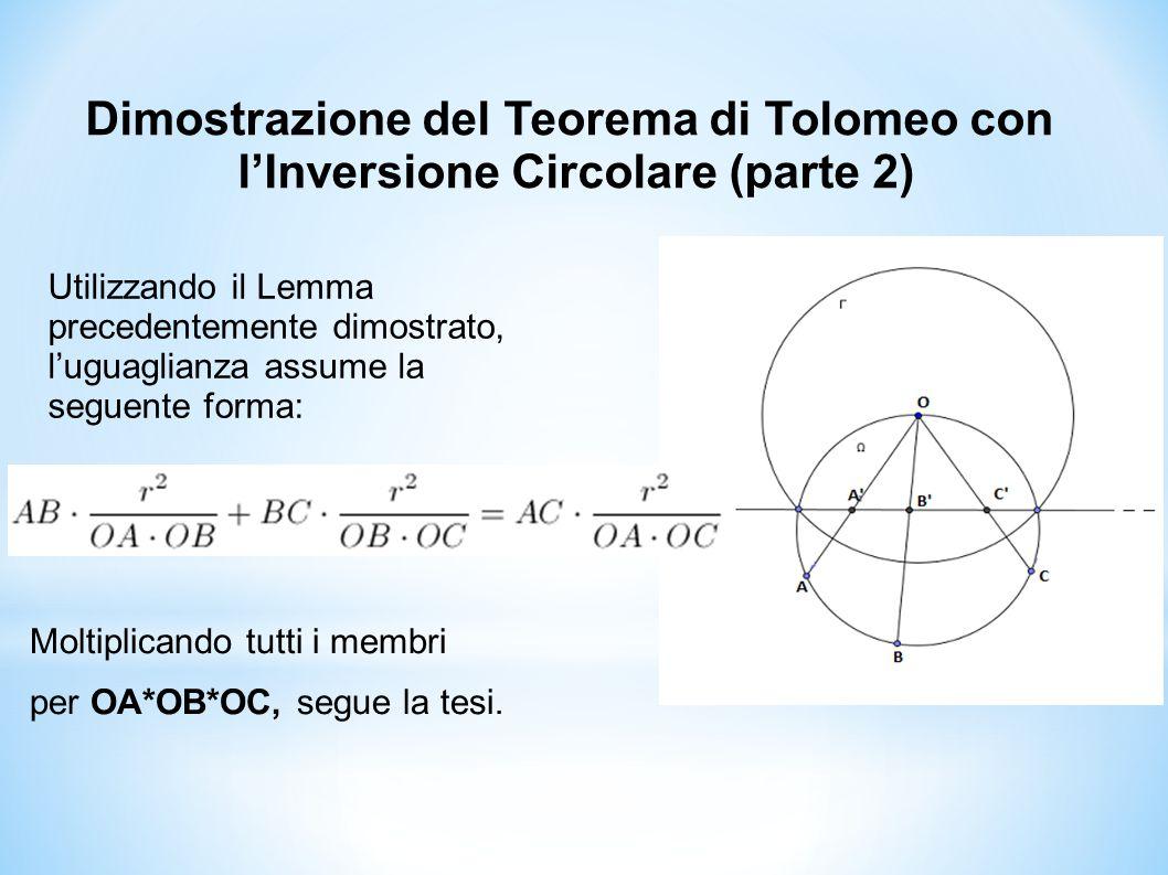 Dimostrazione del Teorema di Tolomeo con