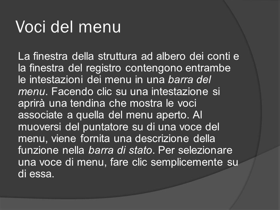 Voci del menu