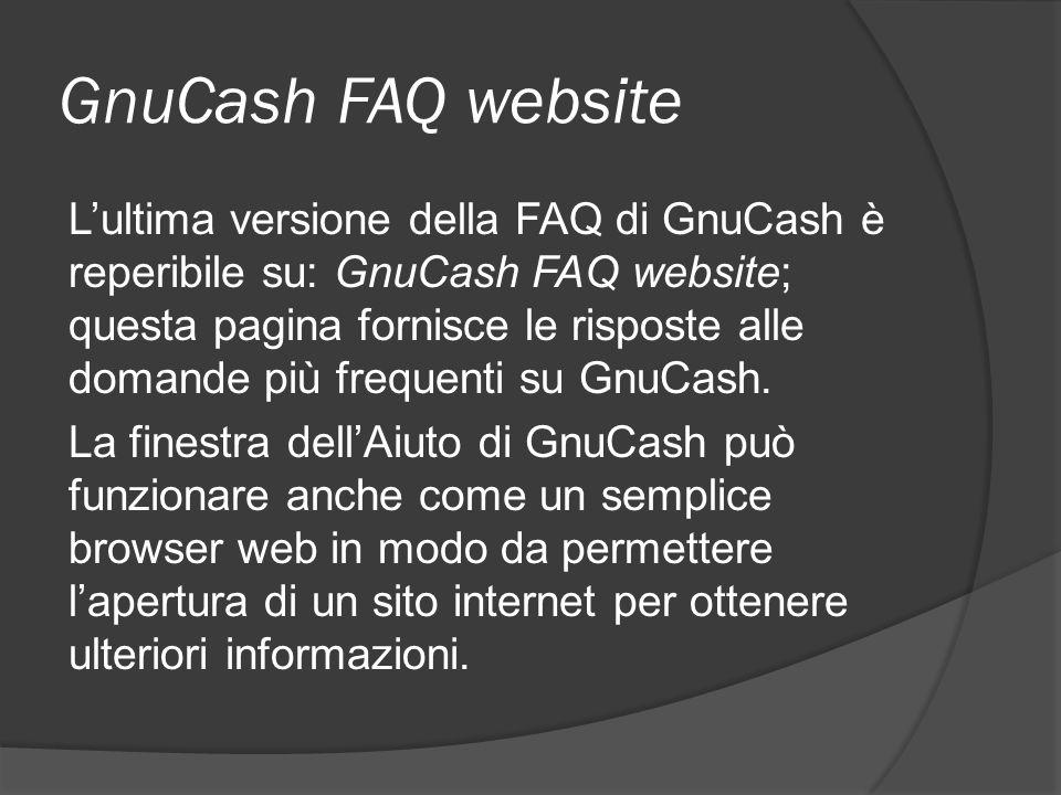 GnuCash FAQ website