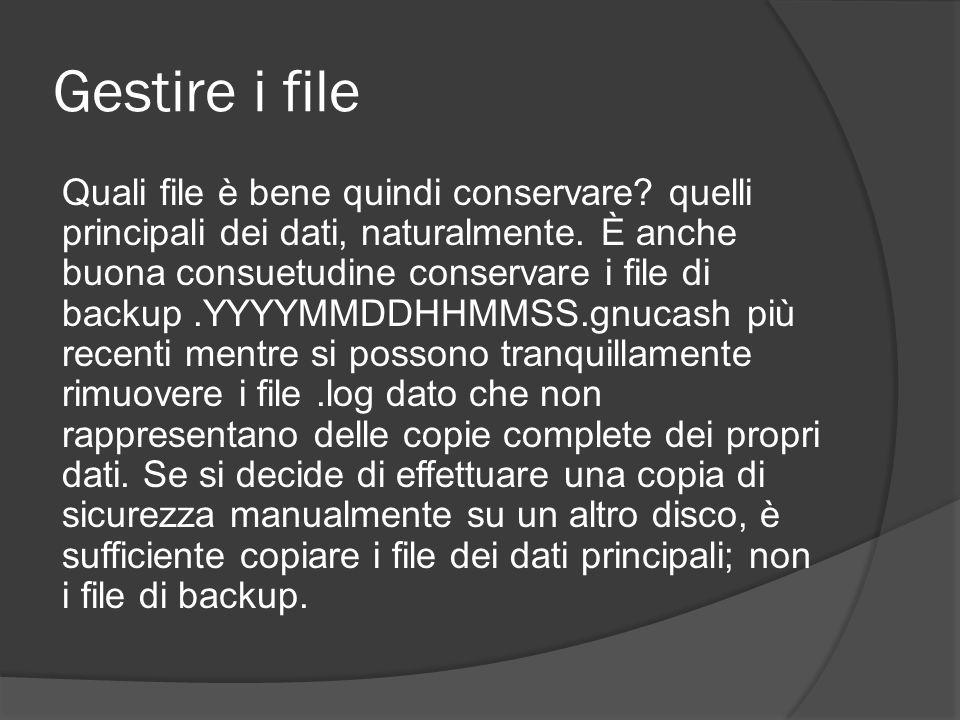 Gestire i file