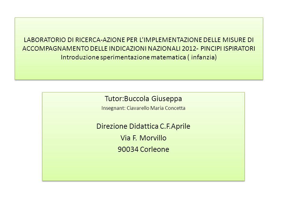 Tutor:Buccola Giuseppa
