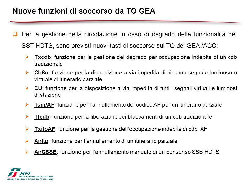 Nuove funzioni di soccorso da TO GEA