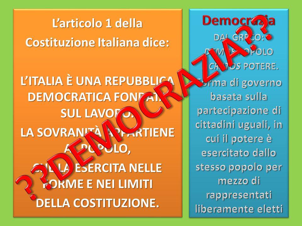 DEMOCRAZIA Democrazia