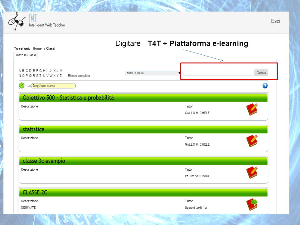 Digitare T4T + Piattaforma e-learning