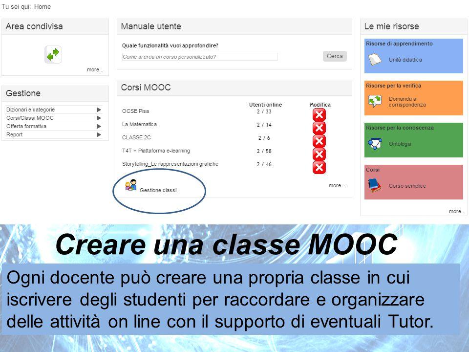 Creare una classe MOOC