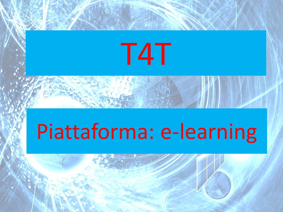 Piattaforma: e-learning