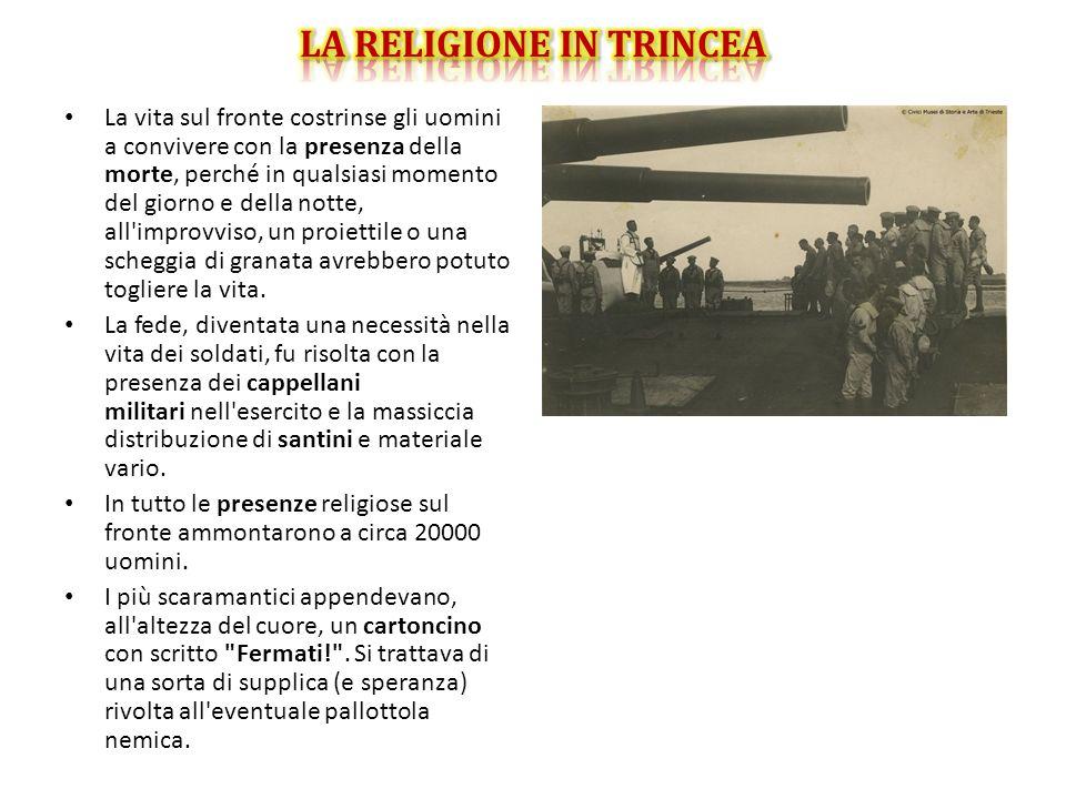 LA RELIGIONE IN TRINCEA