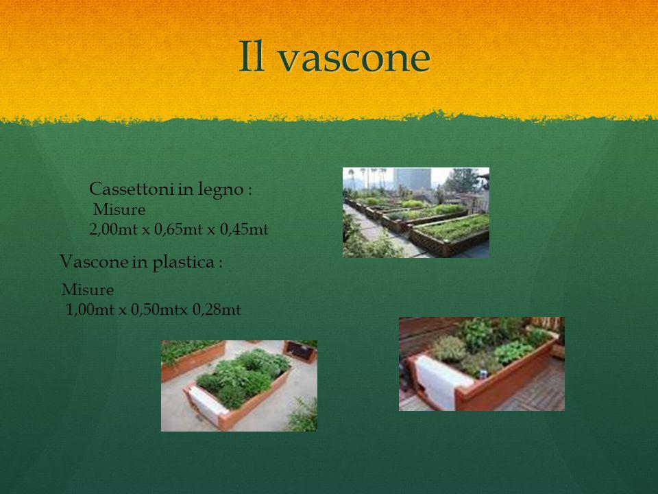 Il vascone Cassettoni in legno : Misure 2,00mt x 0,65mt x 0,45mt