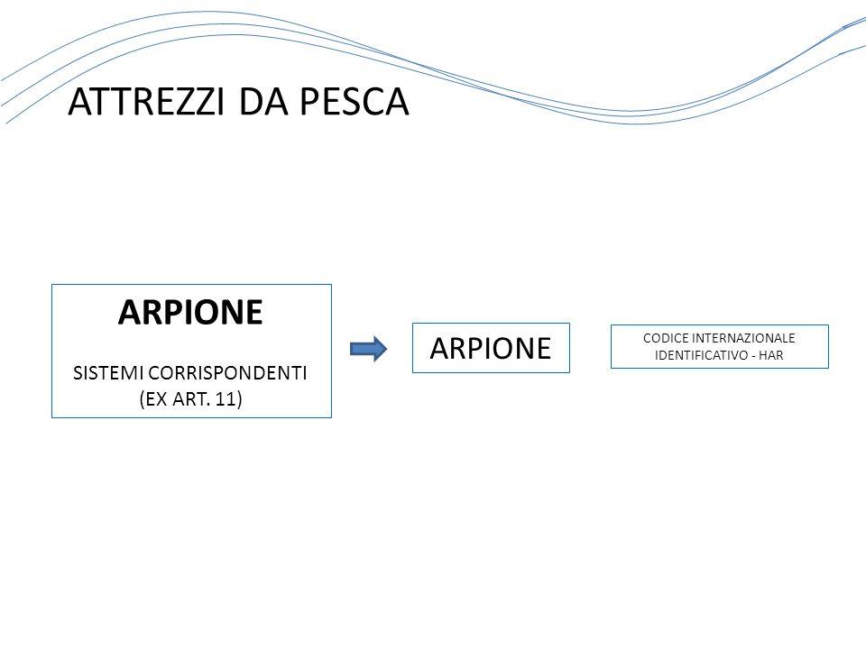 ATTREZZI DA PESCA ARPIONE ARPIONE SISTEMI CORRISPONDENTI (EX ART. 11)