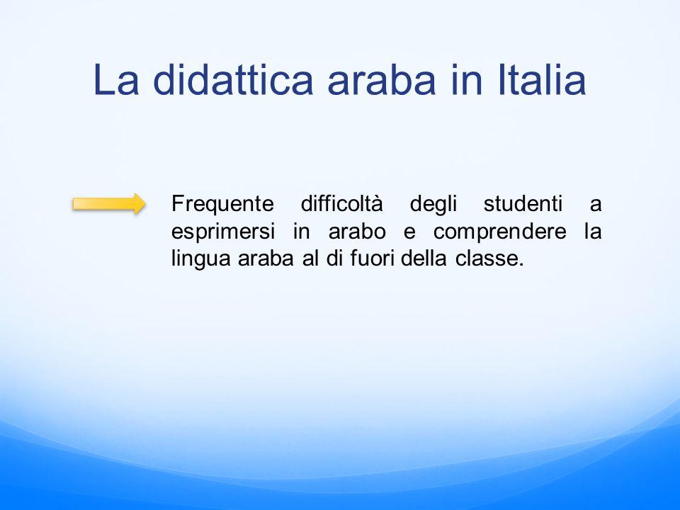 La didattica araba in Italia