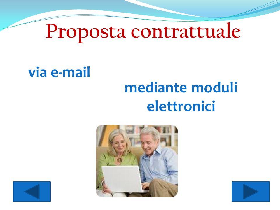 Proposta contrattuale mediante moduli elettronici