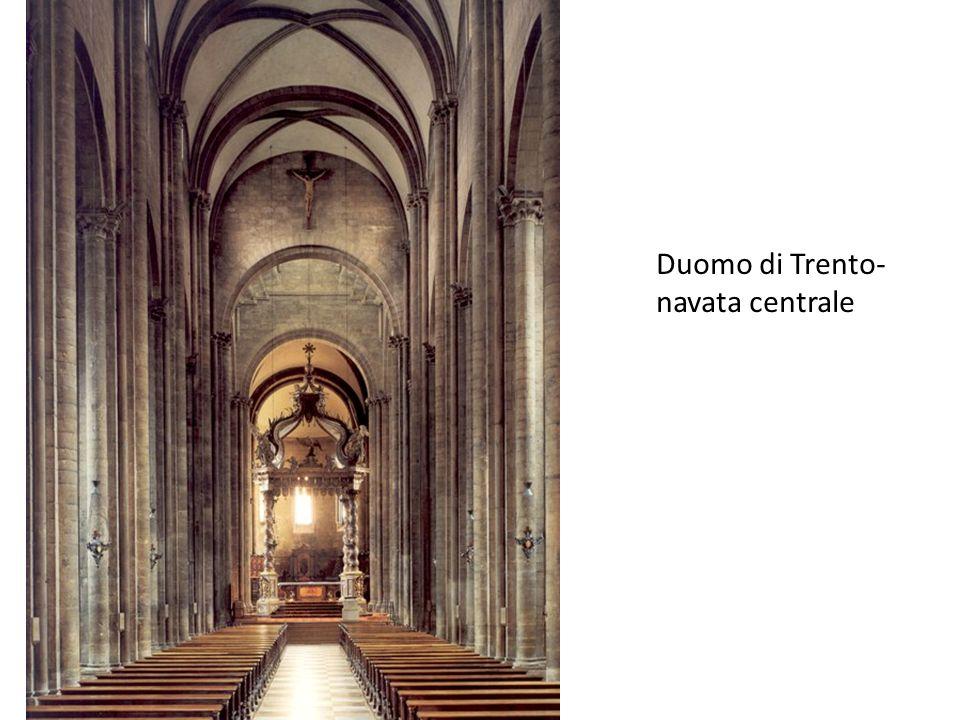 Duomo di Trento- navata centrale