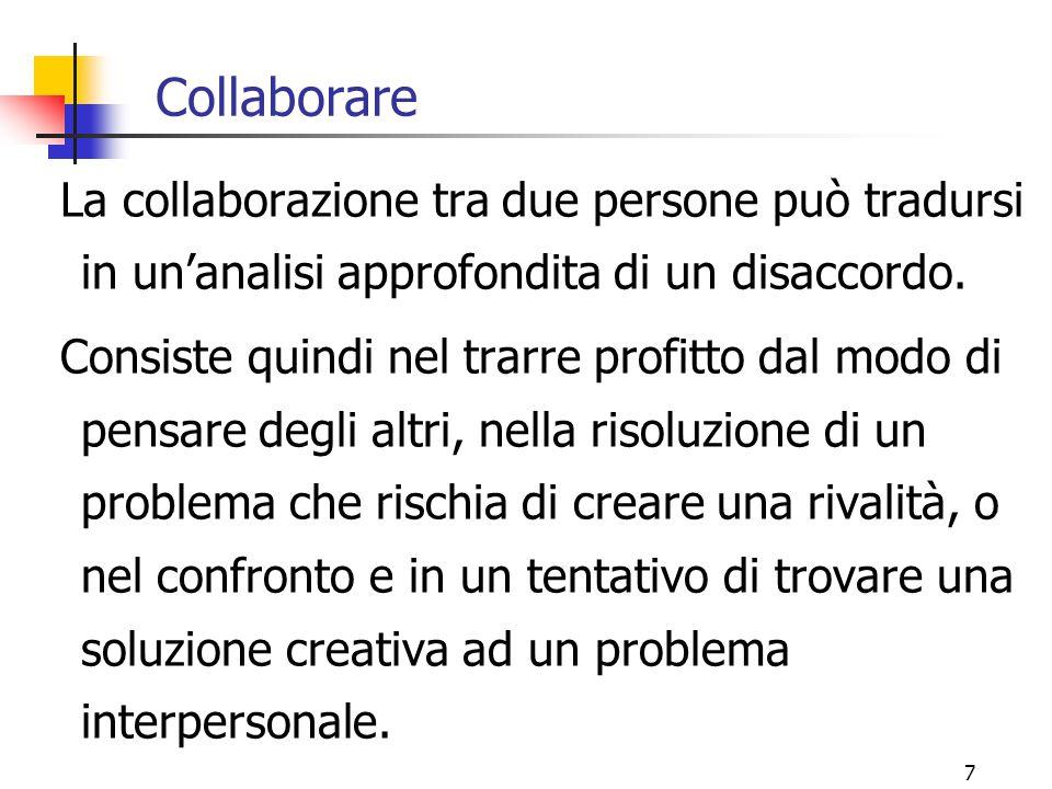 Collaborare La collaborazione tra due persone può tradursi in un'analisi approfondita di un disaccordo.