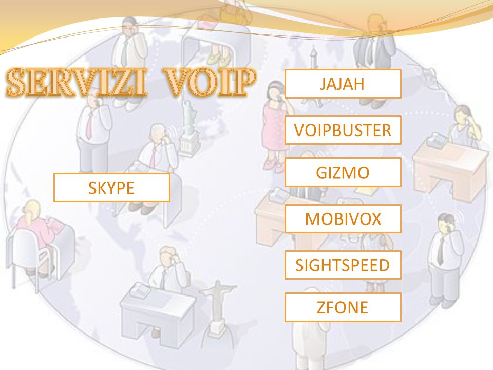 SERVIZI VOIP JAJAH VOIPBUSTER GIZMO SKYPE MOBIVOX SIGHTSPEED ZFONE