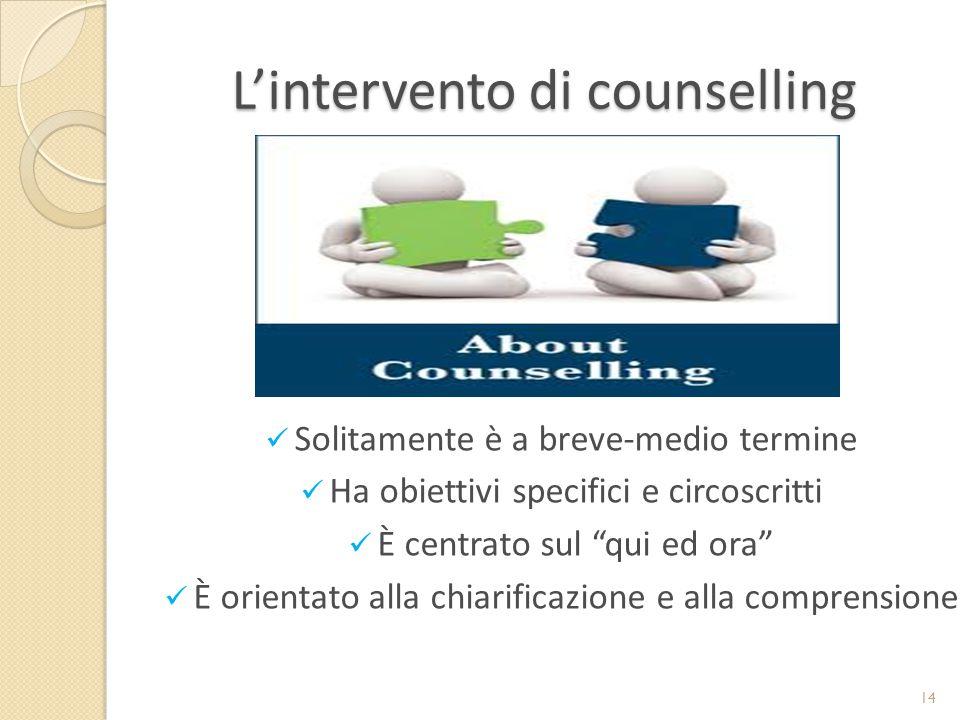 L'intervento di counselling