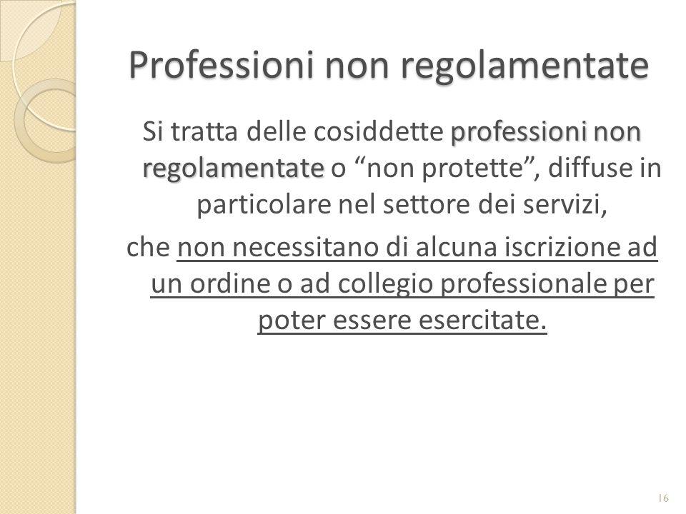Professioni non regolamentate