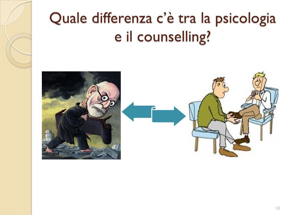 Quale differenza c'è tra la psicologia e il counselling