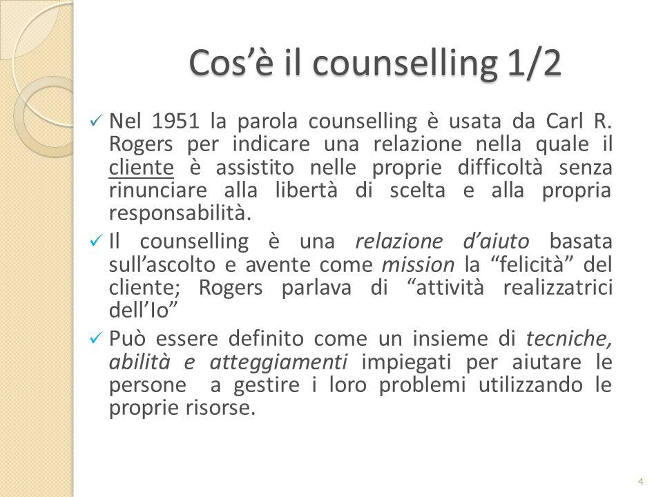 Cos'è il counselling 1/2