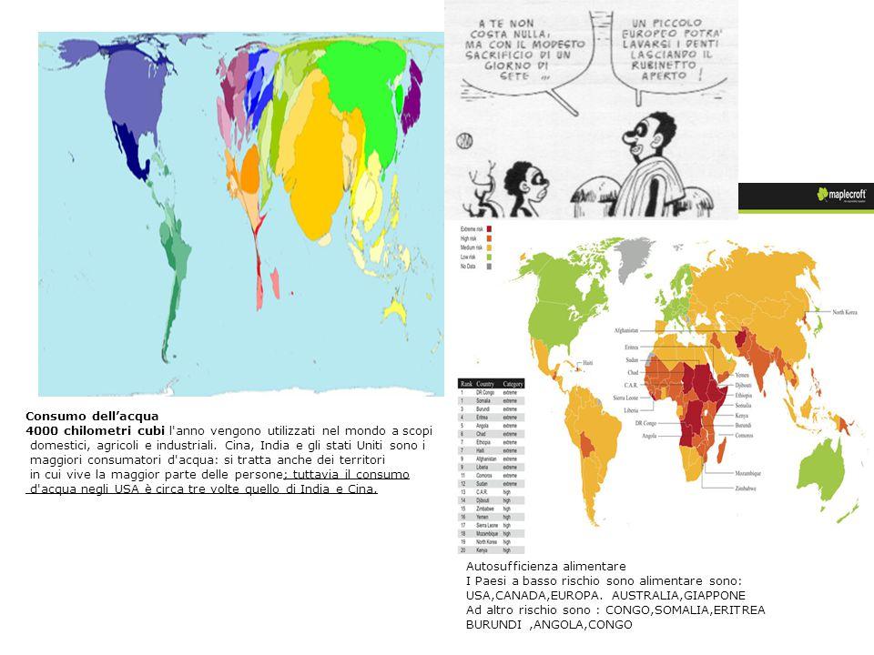 Consumo dell'acqua 4000 chilometri cubi l anno vengono utilizzati nel mondo a scopi.
