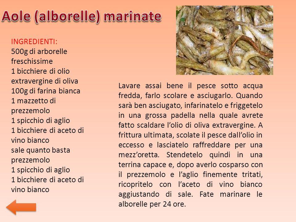 Aole (alborelle) marinate