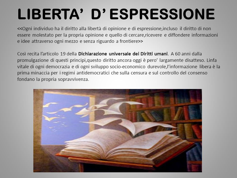 LIBERTA' D' ESPRESSIONE