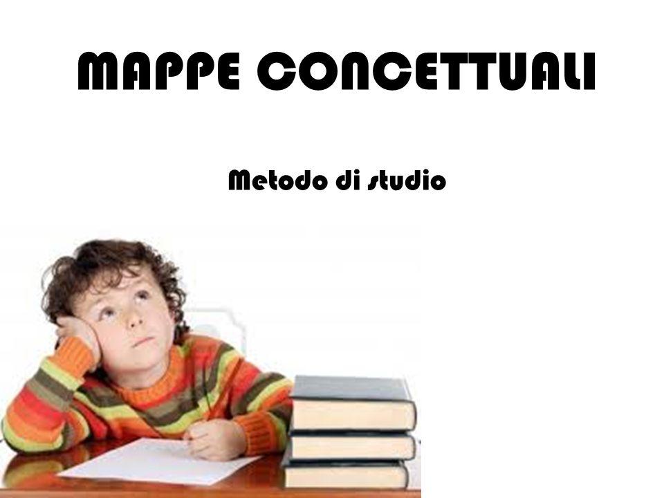 MAPPE CONCETTUALI Metodo di studio 1 1