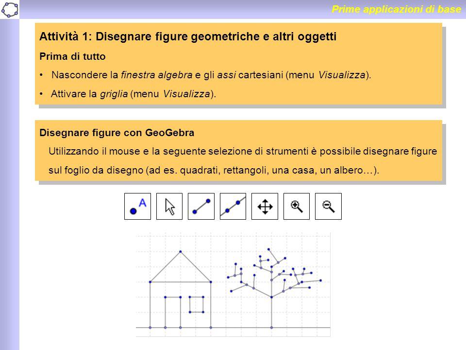 Attività 1: Disegnare figure geometriche e altri oggetti