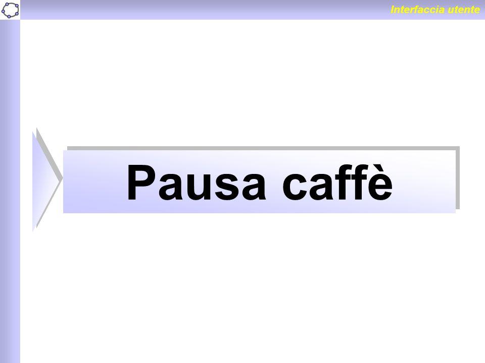 Interfaccia utente Pausa caffè