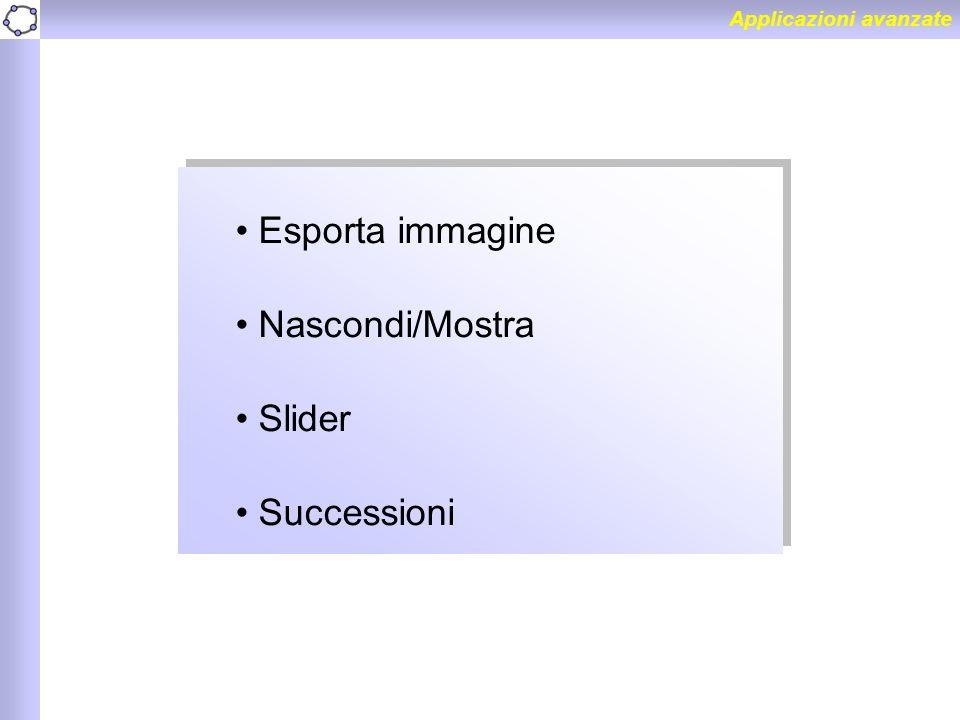 Esporta immagine Nascondi/Mostra Slider Successioni