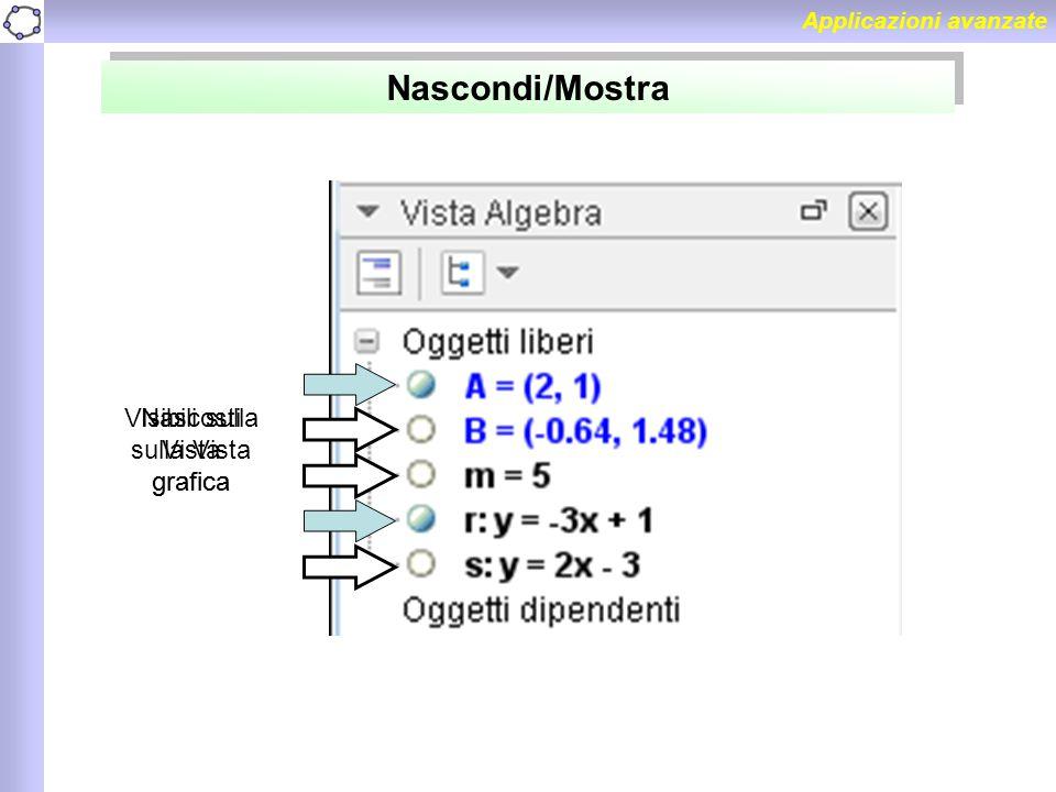 Nascondi/Mostra Visibili sulla Vista grafica
