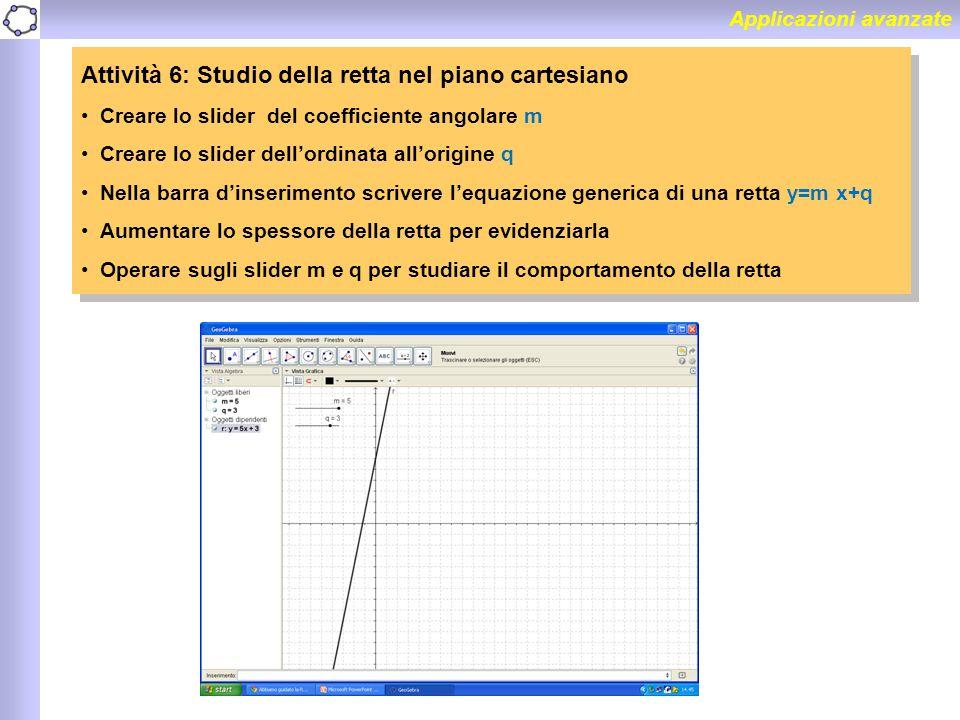 Attività 6: Studio della retta nel piano cartesiano