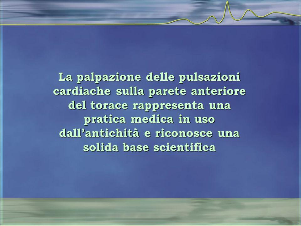 La palpazione delle pulsazioni cardiache sulla parete anteriore del torace rappresenta una pratica medica in uso dall'antichità e riconosce una solida base scientifica