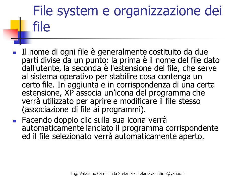 File system e organizzazione dei file