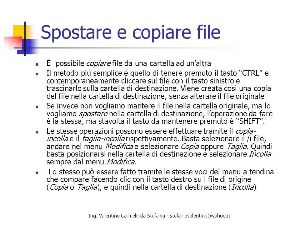 Spostare e copiare file