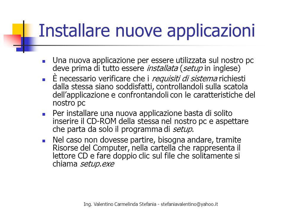 Installare nuove applicazioni