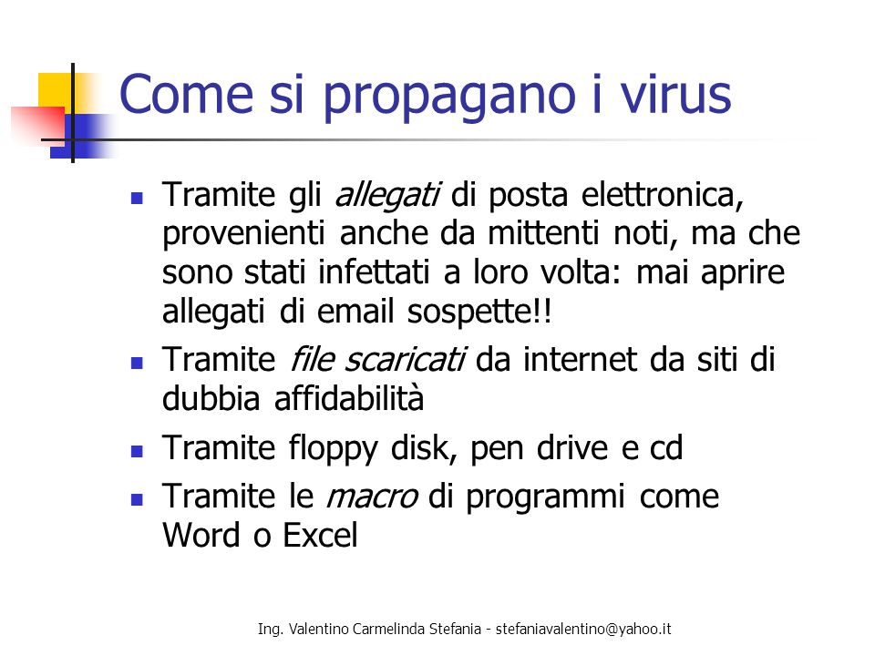 Come si propagano i virus