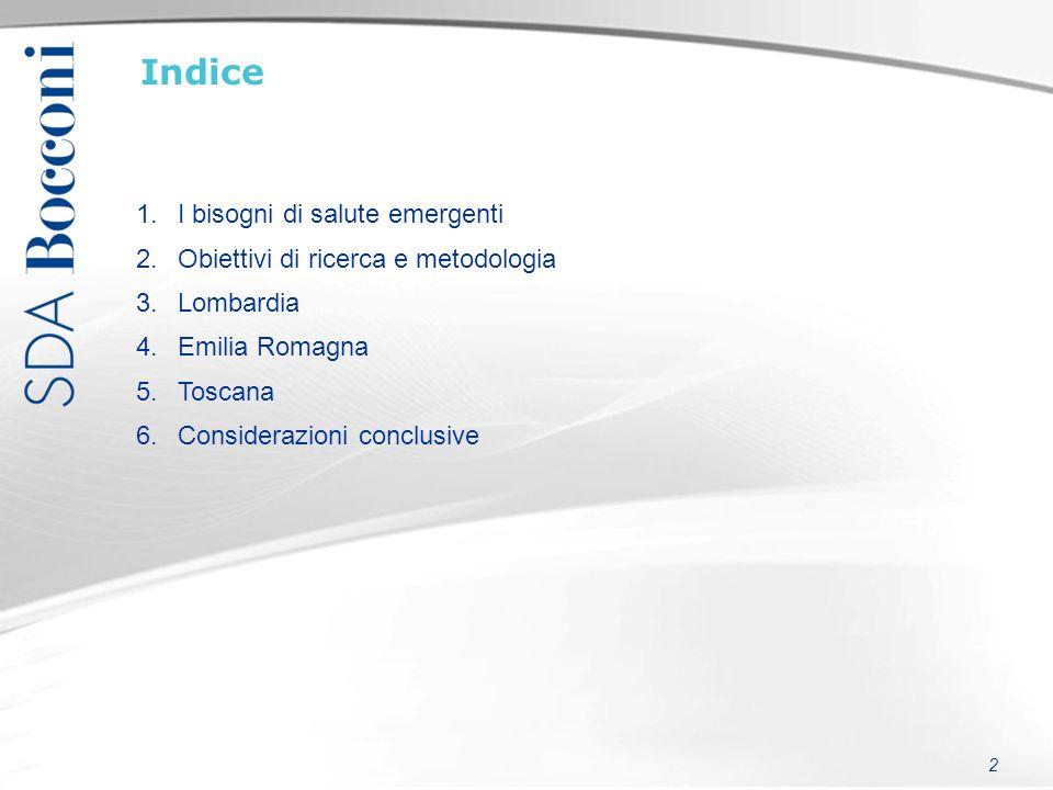 Indice I bisogni di salute emergenti