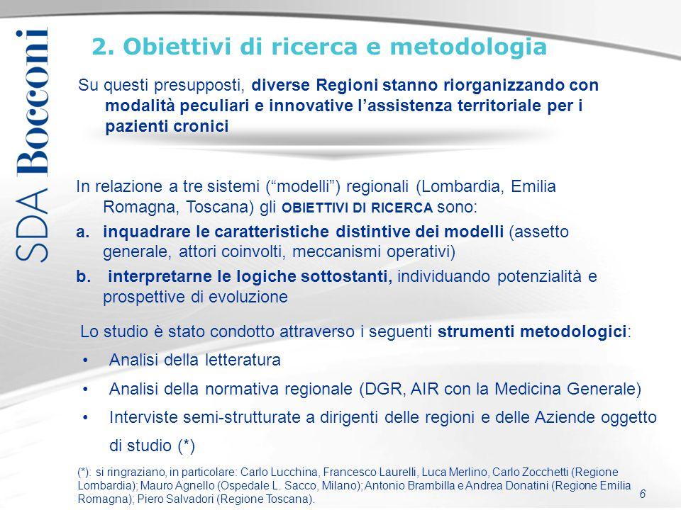 2. Obiettivi di ricerca e metodologia