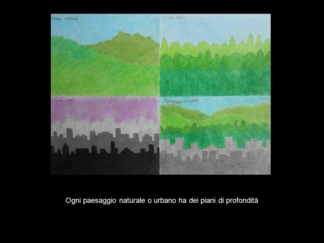 Ogni paesaggio naturale o urbano ha dei piani di profondità