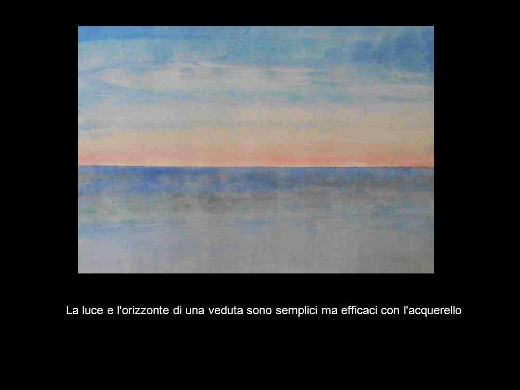 La luce e l orizzonte di una veduta sono semplici ma efficaci con l acquerello