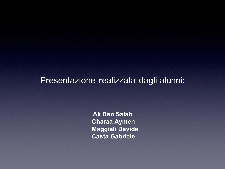 Presentazione realizzata dagli alunni:
