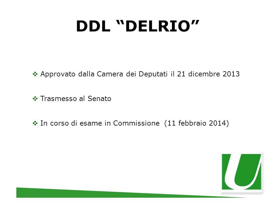 DDL DELRIO Approvato dalla Camera dei Deputati il 21 dicembre 2013