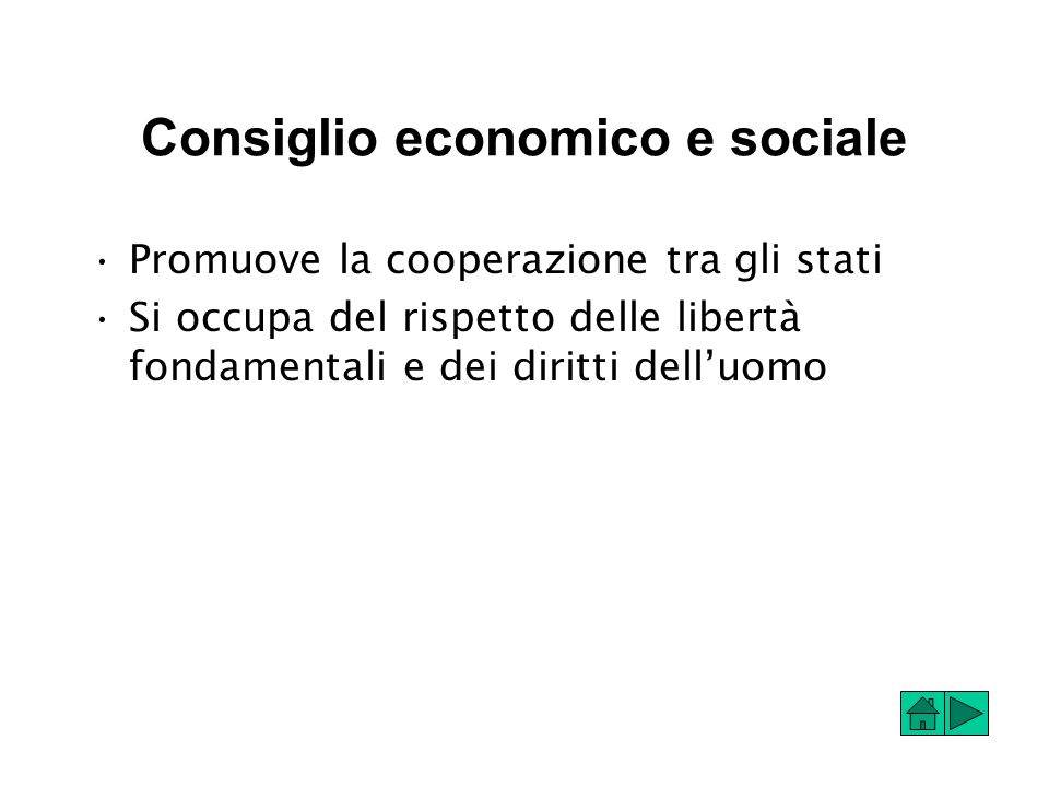 Consiglio economico e sociale