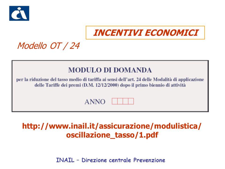 INCENTIVI ECONOMICI Modello OT / 24