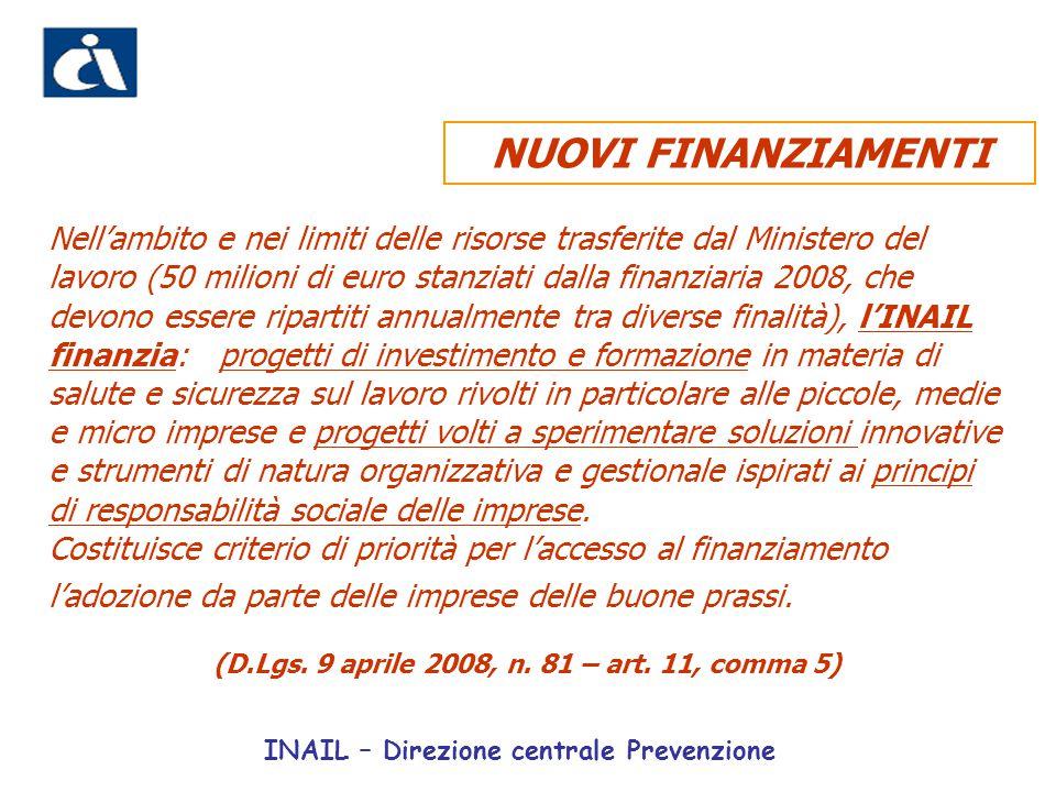 (D.Lgs. 9 aprile 2008, n. 81 – art. 11, comma 5)