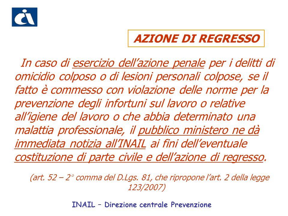 AZIONE DI REGRESSO