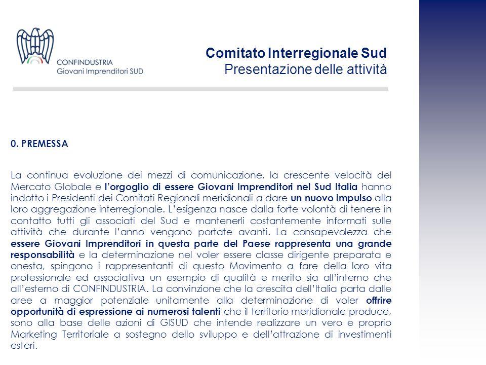 Comitato Interregionale Sud Presentazione delle attività