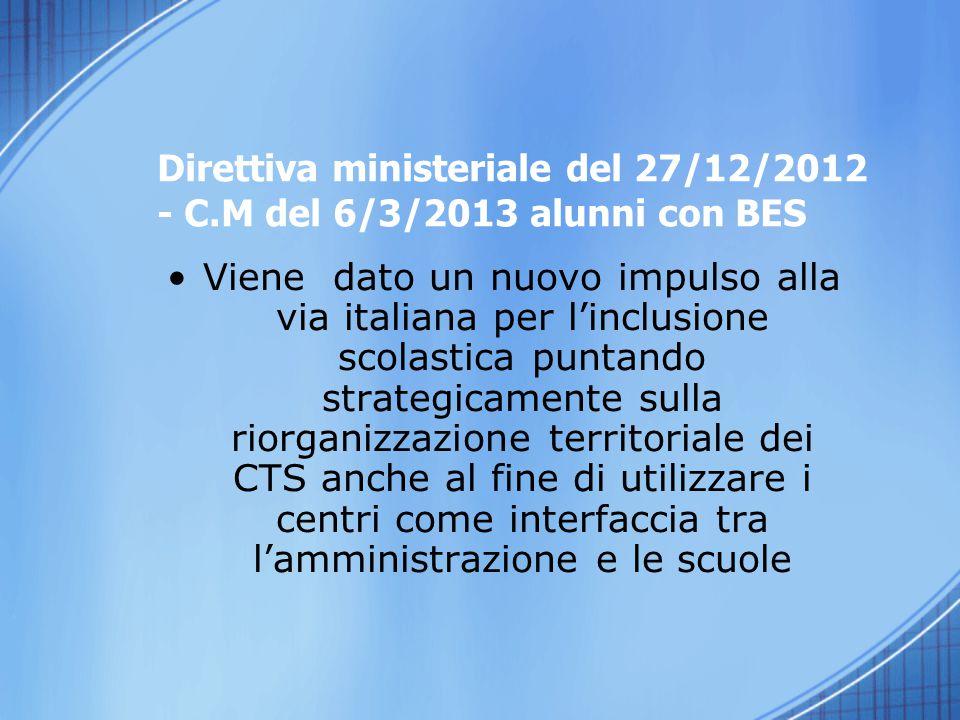 Direttiva ministeriale del 27/12/2012 - C